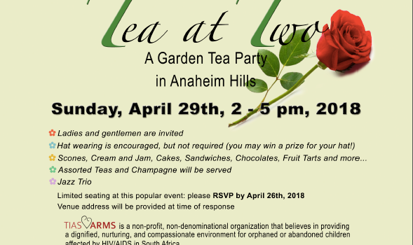 2018 Garden Tea Party! – Sunday 4/29/18  – Click HERE for details and to purchase tickets!